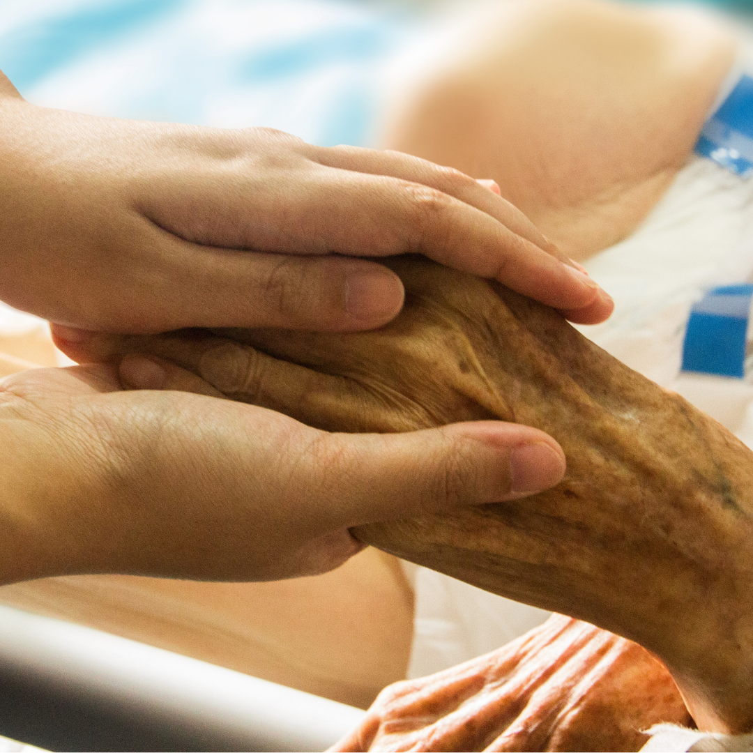 Caring hands at Vida Healthcare