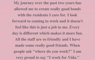 Staff testimonial